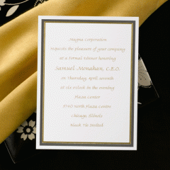 Black and Gold Gala Cards