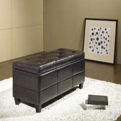 Tribeca Leather Storage Ottoman