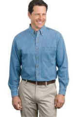 Tall Long Sleeve Denim Shirt