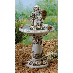 Joseph's Studio Bird Bath with Angel