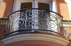 Protections for balconies forged