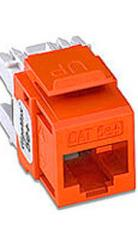 Brown Category 5e+ RJ45 Snap in Jack /568A