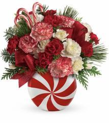 Teleflora's Peppermint Christmas Bouquet