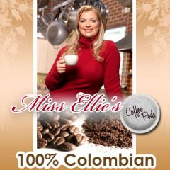 Miss Ellie's Coffee Pods, 100% Colombian, 18