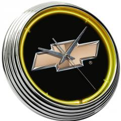 Chevrolet Bowtie Neon Clock