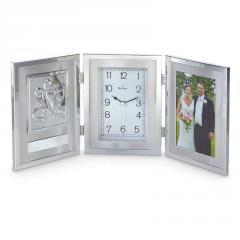 Bulova® Remembrance Photo Frame Clock