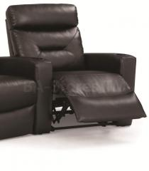 Casey Black Faux Leather Left Recliner