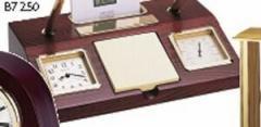 Bulova Parkston Clock Desk Set