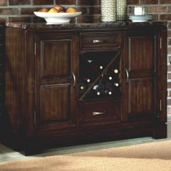 Bella Server with Faux Marble Top