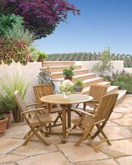 Capri Folding Table/Bistro Folding Armchair Dining