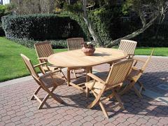 Capri Extension Table/Bistro Folding Armchair