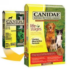The CANIDAE Chicken & Rice dog food