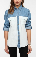 BDG Colorblock Denim Shirt