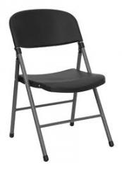 Flash Furniture Black Plastic Folding Chair