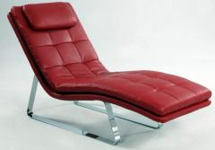 Chintaly Imports CORVETTE-LNG-RED-LEGS Chaise