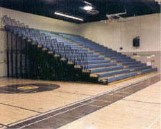 Gym bleachers