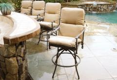 Sunbrella Outdoor High Back Dining Cushions