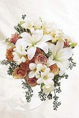 Peach dream bridal bouquet