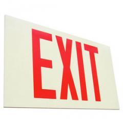 Self Illuminating Exit Sign