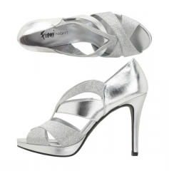 Women's Halo Chop-Out Glitter Sandal