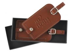 Accent Leather Luggage Tag ID Gift Set