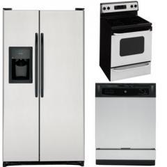 GE 3-Piece Stainless Steel Kitchen Appliance
