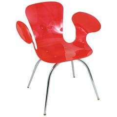 Red Acrylic Cradle Chair