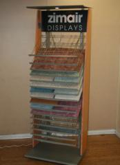 Vertical Display for Carpet or Wood