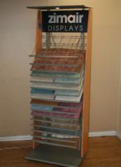 Vertical Display for Carpet or Wood