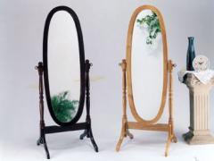 Cherry Finish Cheval Mirror