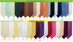Mens Solid Ties and Hanky