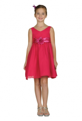 Girls Short Fuchsia Dresses