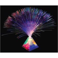 This Fiber Optic Pyramid Centerpiece Light