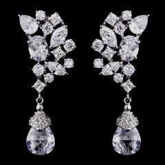 Fabulous Cubic Zirconia CZ Formal Wedding Earrings