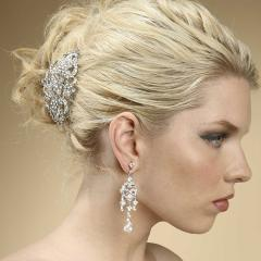 Vintage Inspired Rhinestone Hair Barrette