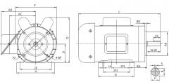 General Purpose, SinglePhase,56C/CHFrame Motor