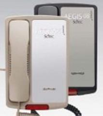 Single-line lobby telephone