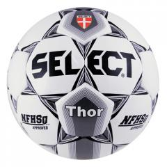 Select Thor Soccer Ball - White with Black