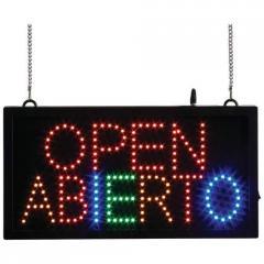 OPEN/ABIERTO Programmed LED Sign