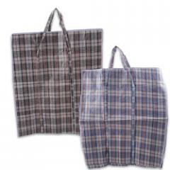 Astd. Colored Extra Large Striped Shopping Bags