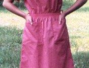 V-Neck Elastic Waist Dress