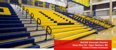 MAXAM Telescopic Gym Bleachers
