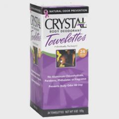Crystal Body Deodorant Towelettes