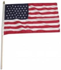 USA 45 Star 12 x 18; Stick Flag