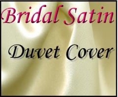 Bridal Satin Duvet Cover