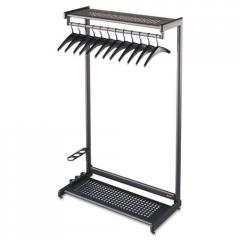 "Quartet® 36"" Wide Single-Sided Rack w/Two"