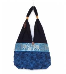 Thai Handbag Blue Swirl