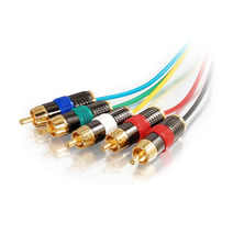 15ft Plenum-Rated Component Video + RCA Stereo