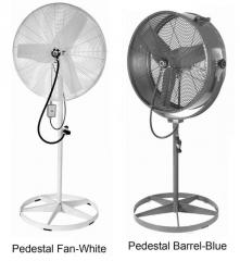 Misting Barrel & Pedestal Fans 2 Speed