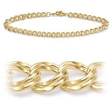 14K Yellow Gold 5 mm Charm Bracelet